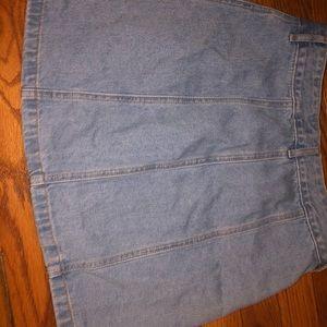 Forever 21. Button up denim mini skirt.